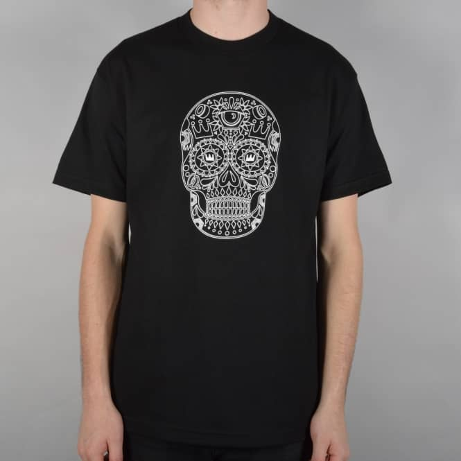 Royal Trucks Sugar Skull Skate T-Shirt - Black