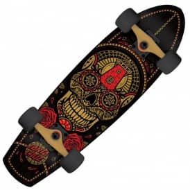 Sugar Skull Street Shark Cruiser Skateboard 8.8""