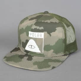 Summit Trucker Cap - Green Furry Camo