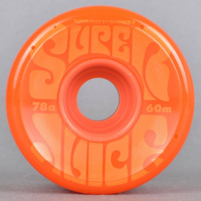 OJs Wheels Super Juice 78A Orange Skateboard Wheels 60mm