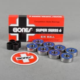 Super Swiss 6 Ball Skateboard Bearings
