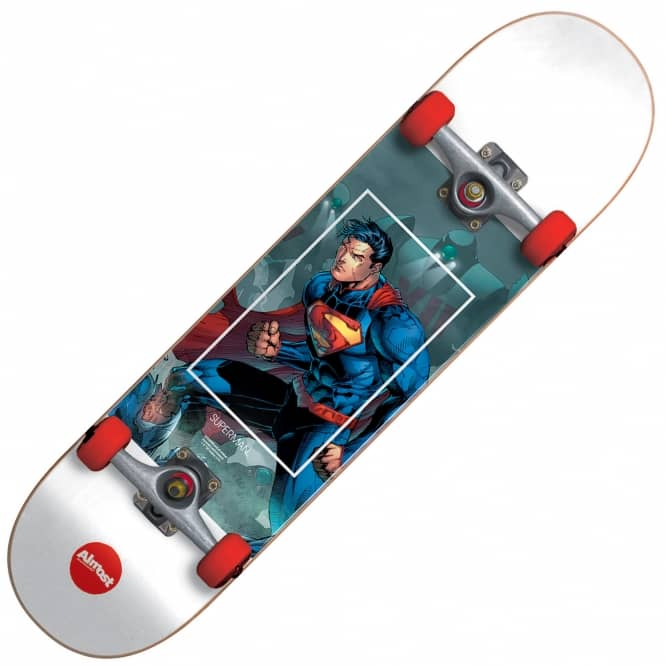 Almost Skateboards Superman Fight Club Youth Mini Complete Skateboard 7.0