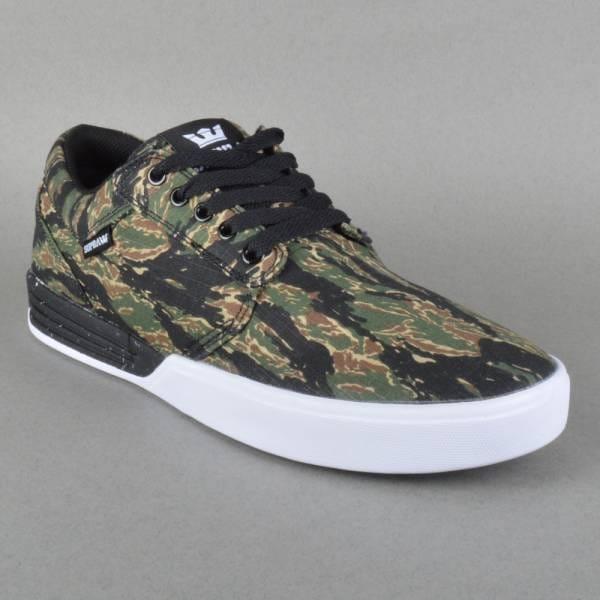 Supra Footwear Hammer Skate Shoes - Tiger Camo White - Mens Skate ... 65057a17397d