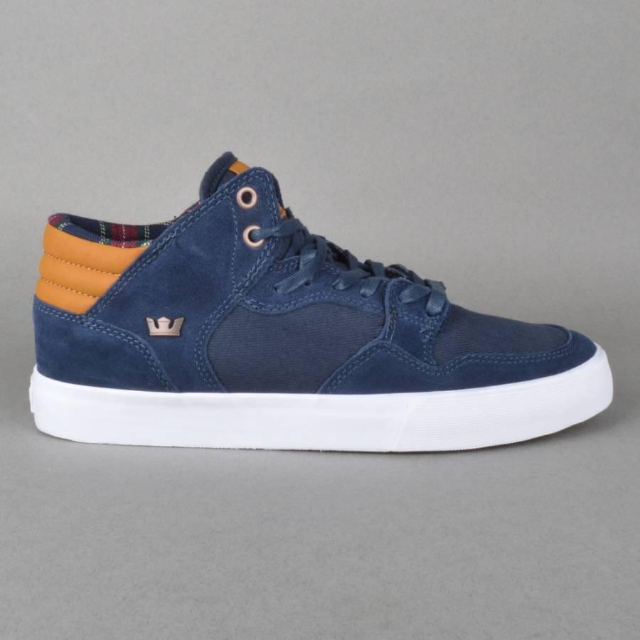 Supra Footwear Shotgun Skate Shoes - Navy/Spice-White - Supra Footwear from Native ...