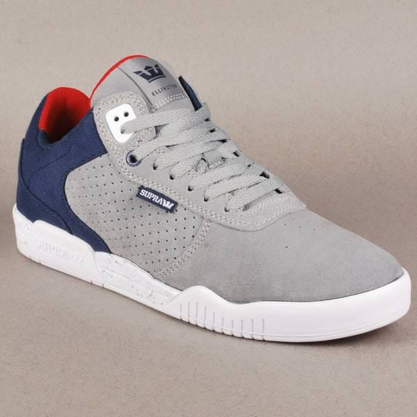 b246f16f5ce Supra Footwear Supra Ellington Skate Shoes - Grey/Navy-White - Mens ...