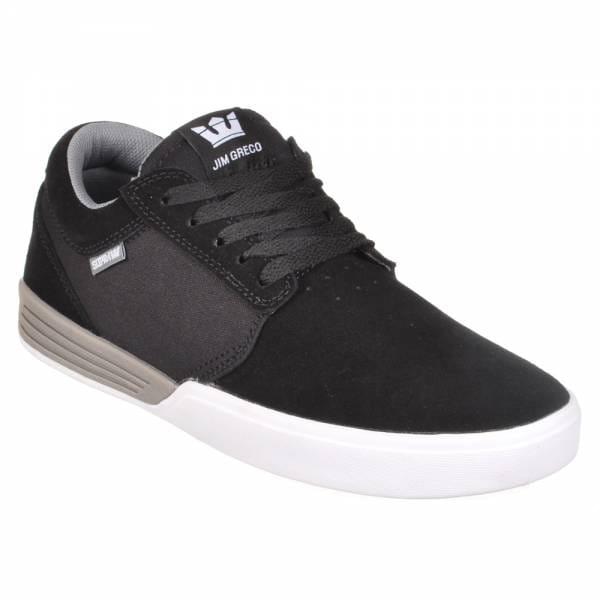 supra footwear supra hammer skate shoes black grey white