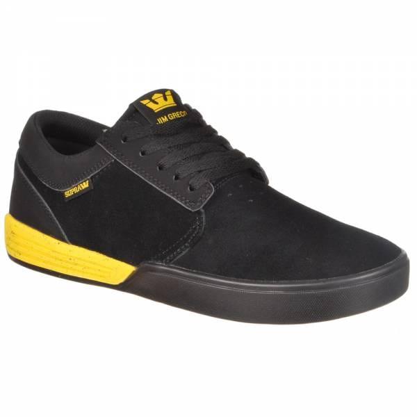 supra footwear supra hammer skate shoes black yellow