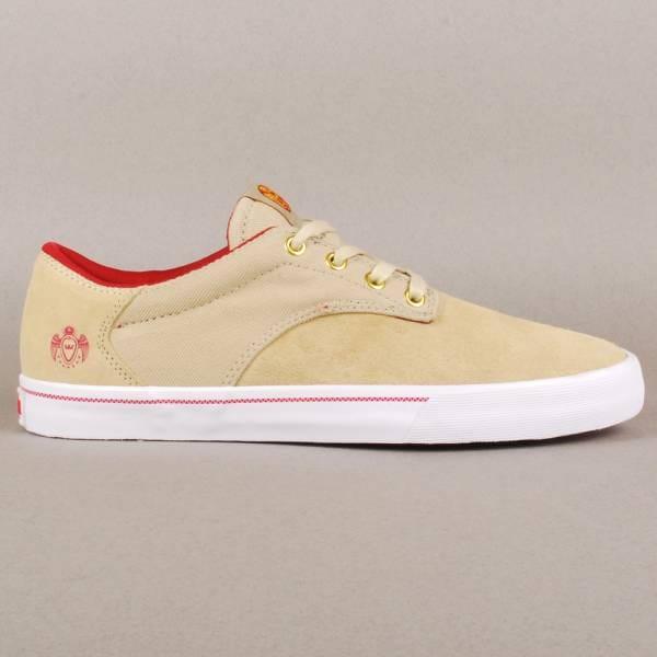 28c0db253ee6 Supra Footwear Supra Pistol Crown Coalition Skate Shoes - Tan White ...