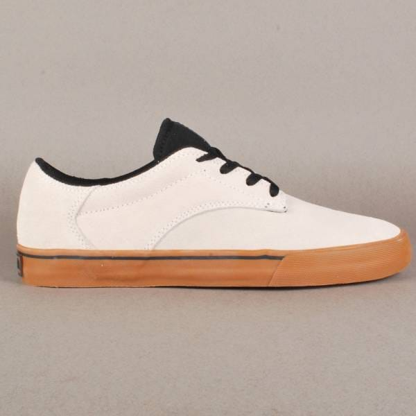 67da88a60eab Supra Footwear Supra Pistol Skate Shoes - White Black-White - SKATE ...