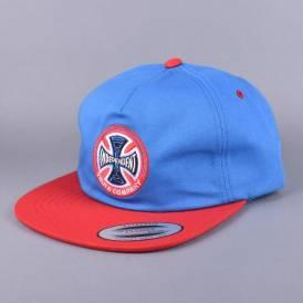 Suspension Sketch Strapback Cap - Royal/Red