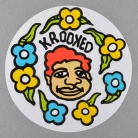 Krooked Skateboards Sweatpants Skateboard Sticker