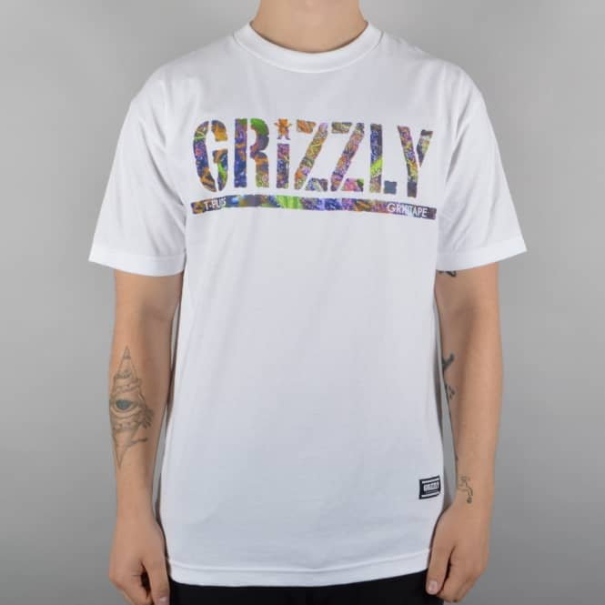 Grizzly Griptape T Puds Fruity Pebbles Skate T-Shirt - White