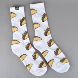 Taco Crew Socks - White