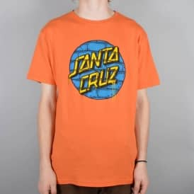 Santa Cruz Skateboards Tagged Dot Skate T-Shirt - Coral