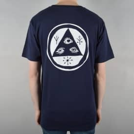 Welcome Skateboards Talisman Skate T-Shirt - Navy