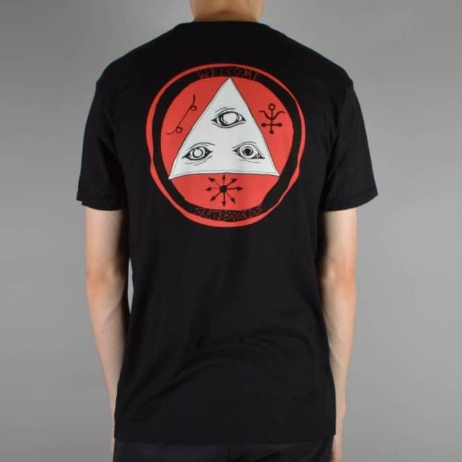 Welcome Skateboards Talisman Tri Colour Skate T-Shirt - Black/Red/White -  SKATE CLOTHING from Native Skate Store UK