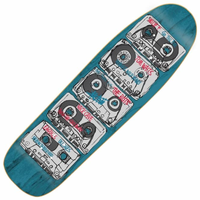 Heroin Skateboards Tapes Custom Shape Skateboard Deck 9.0