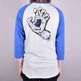 Tattoo Hand Baseball T-Shirt - Strong Blue/Asphalt Grey