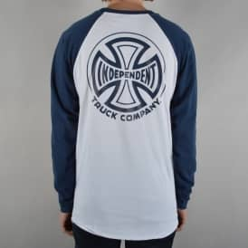 TC Longsleeve Baseball T-Shirt - White/Navy