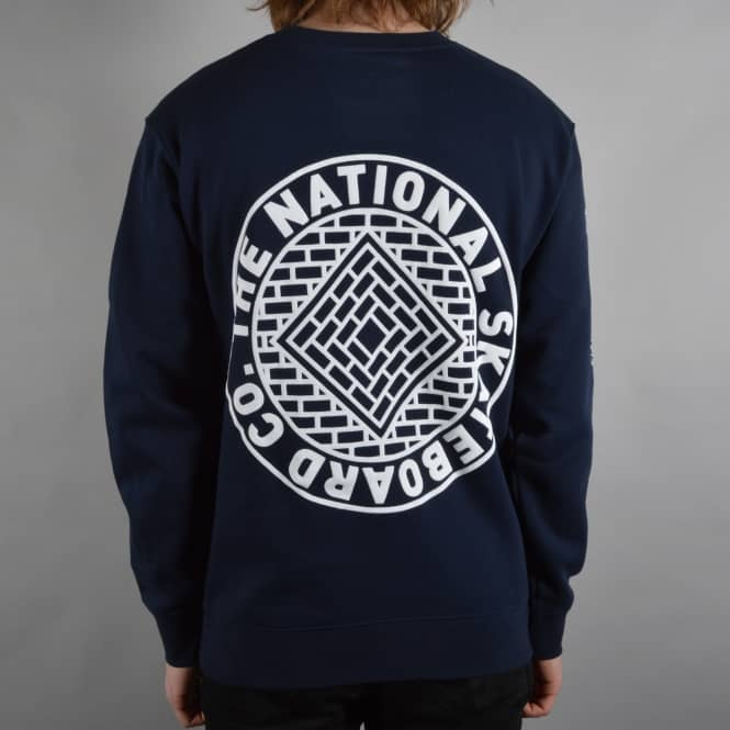 The National Skateboard Co. Team Crewneck Sweater - Navy