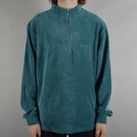 Terry Half Zip Top - Teal