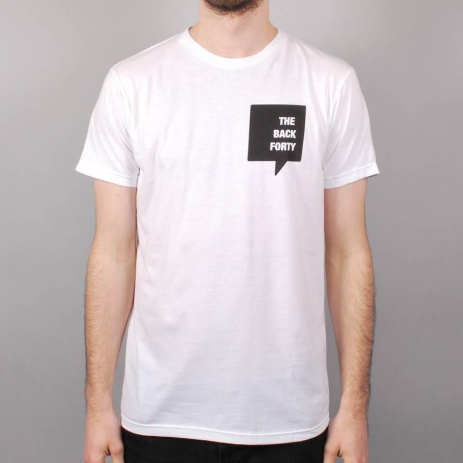 The back forty the back forty pocket logo skate t shirt for Pocket logo t shirt