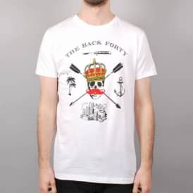 The Back Forty Wack Forty Skate T-Shirt - White