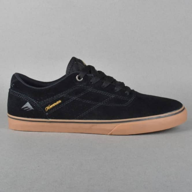 Emerica The Herman G6 Vulc Skate Shoes - Black/Gum