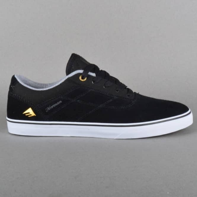 Emerica The Herman G6 Vulc Skate Shoes - Black/White