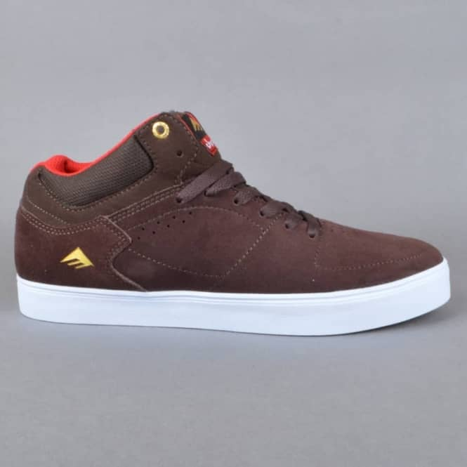 Emerica The Hsu G6 x Chocolate Skate Shoes - Brown/White