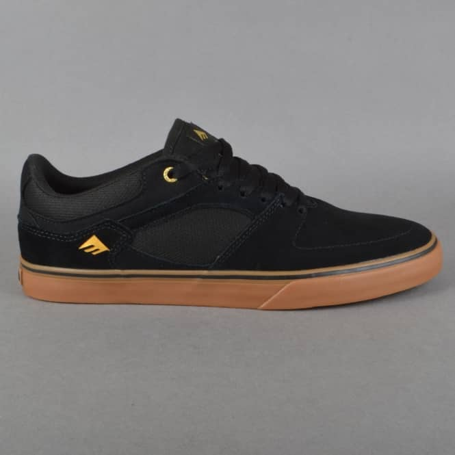Emerica The Hsu Low Vulc Skate Shoes - Black/Gum