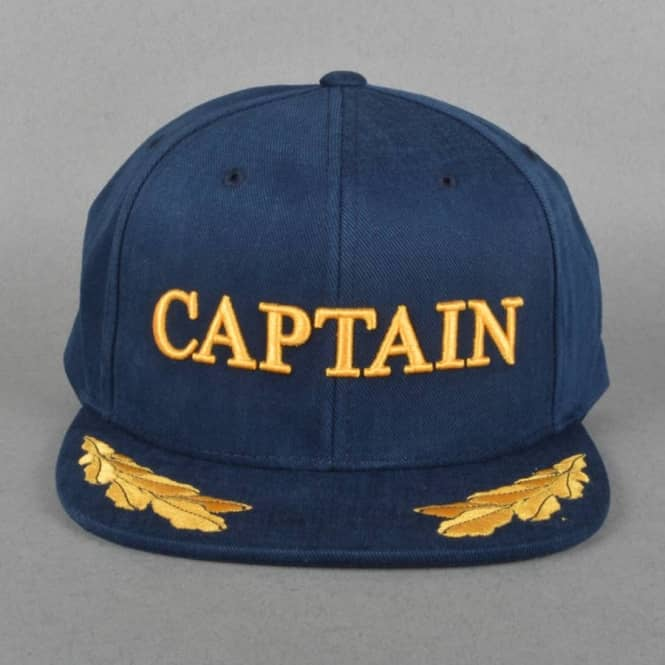 The Hundreds Captain Snapback Cap - Navy - SKATE CLOTHING from ... 4264499b91d