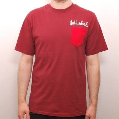 The hundreds here custom pocket t shirt maroon skate t for Custom t shirts with pockets