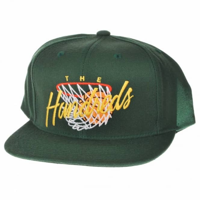 The Hundreds The Hundreds Hoops Snapback Cap - Dark Green