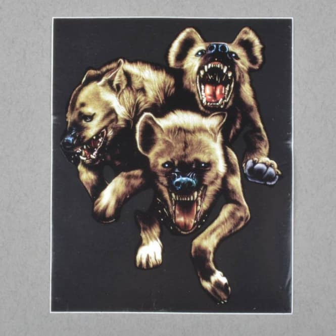 The Hundreds Hyenas Sticker - Black