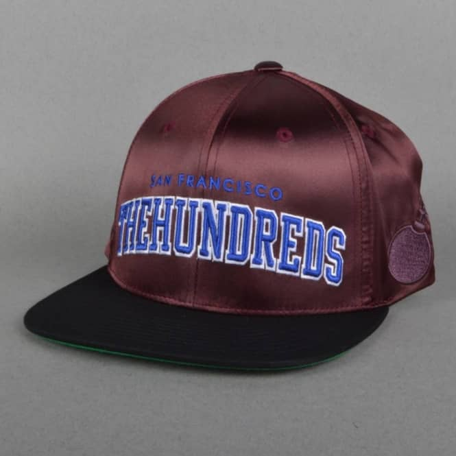 The Hundreds Player Snapback Cap - Burgundy