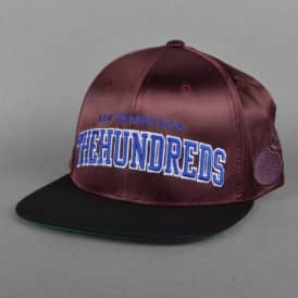 Player Snapback Cap - Burgundy