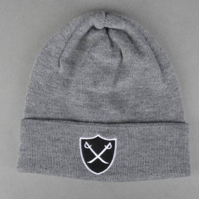 The Hundreds Shield Single Fold Beanie - Light Grey