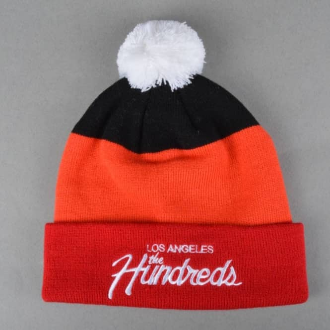 The Hundreds Team Bobble Beanie - Red