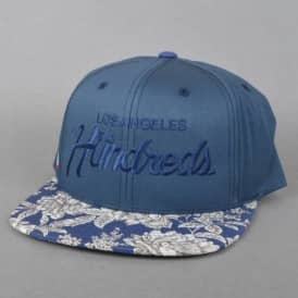 The Hundreds Team Floral Snapback Cap - Navy