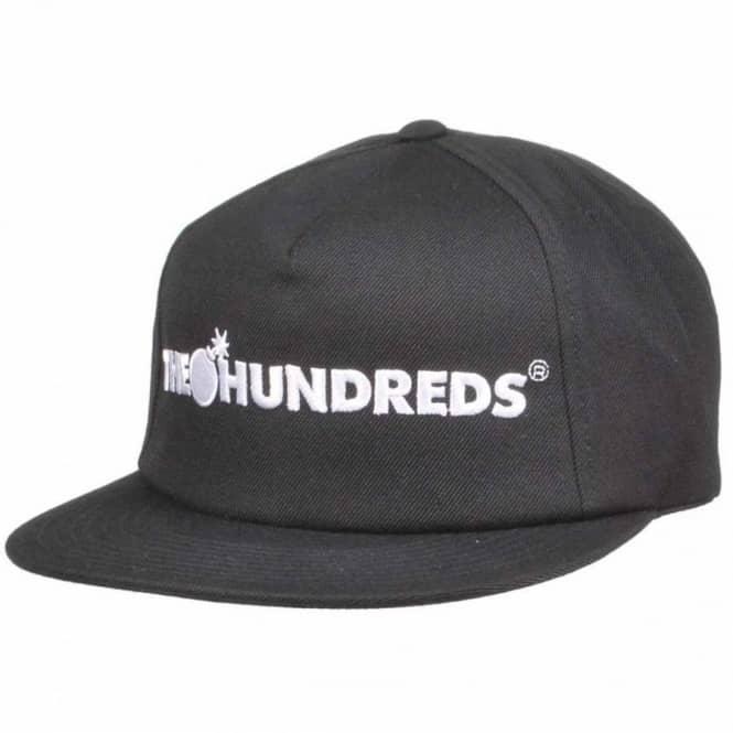 86b218c1b796 The Hundreds Bar Logo Snapback Cap - Black - Caps from Native Skate ...
