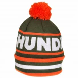 The Hundreds Face Off Bobble Beanie - Olive
