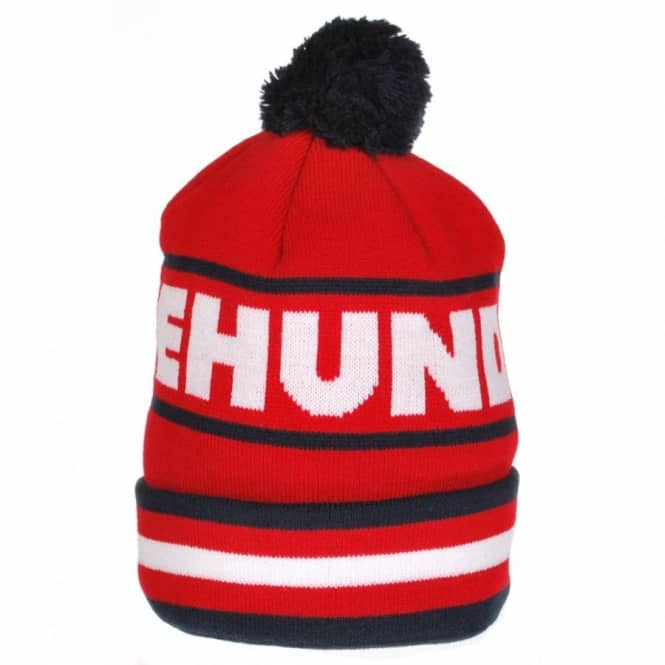 The Hundreds The Hundreds Face Off Bobble Beanie - Red