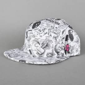 The Hundreds Todd Bratrud 5 Panel Cap - White