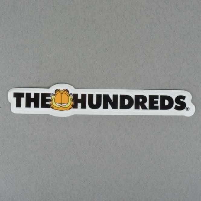 461b35b1bd0f The Hundreds X Garfield Bar Logo Sticker - Black - ACCESSORIES from ...