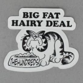 X Garfield Big Fat Hairy Deal Sticker - Black