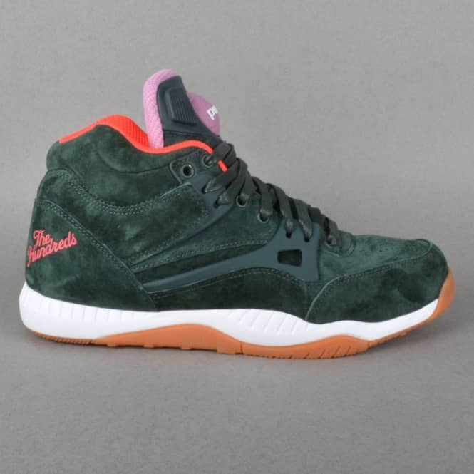 fri leverans klassisk stil nya anländer The Hundreds X Reebok Pump AXT Shoes - Forest - Mens Skate Shoes ...