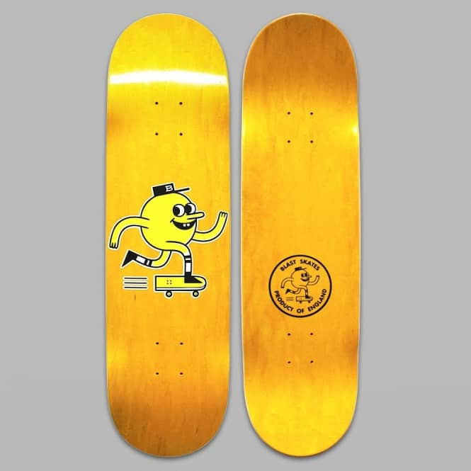 Blast Skateboards The Logo Skateboard Deck 9.0