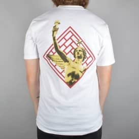 The National Skateboard Co. Bastille Skate T-Shirt - White