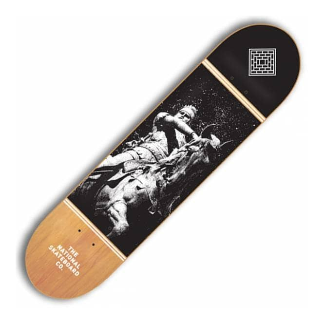 The National Skateboard Co. Black Prince Raw Skateboard Deck 8.0''